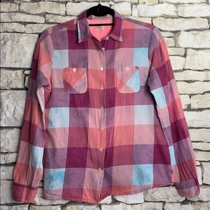 💕Maison Scotch Pink and Blue Plaid Shirt 💕